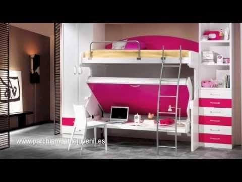 Mueble juvenil cama mesa abatible literas dormitorios for Dormitorios infantiles literas