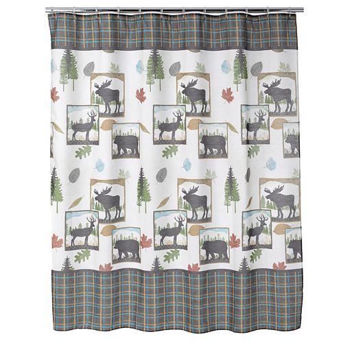 Bacova Woodlands Fabric Shower Curtain Fabric Shower Curtains
