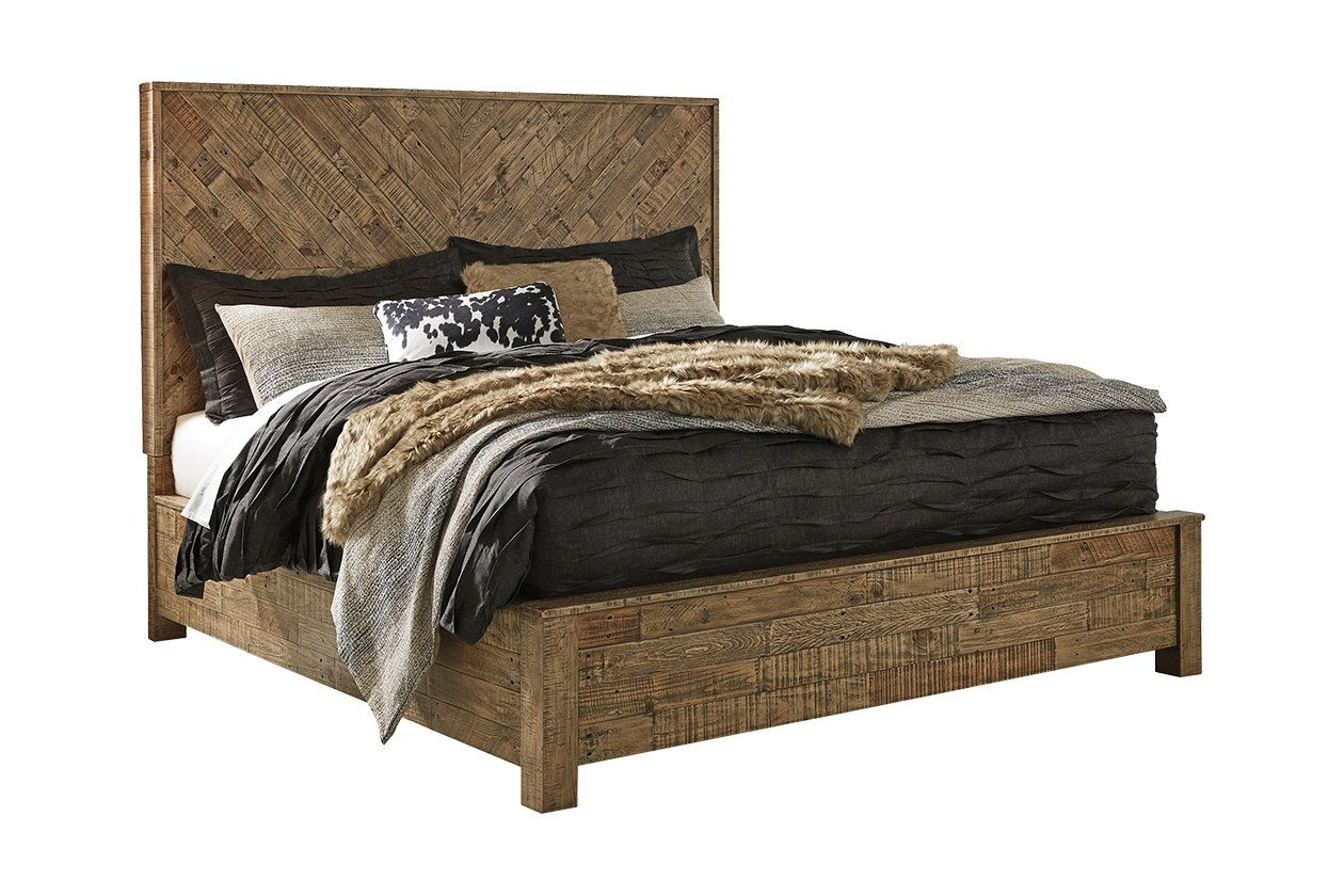 online store df1ce 14c97 Grindleburg Queen Panel Bed | Ashley Furniture HomeStore ...