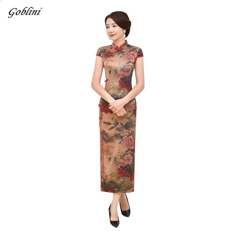 038d6b69e9 Sukienka chińska z krótkim rękawem