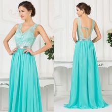 Vestidos Azul Turquesa Verde Esmeralda E Dourado