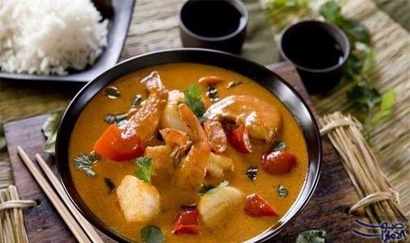 طريقة عمل الإسكالوب والروبيان بصلصة الكاري والزعفران المقادير4 اشخاص 4 حبات كبيرة إسكالوب 1 Fish Curry Recipe Curry Recipes Bengali Fish Recipes