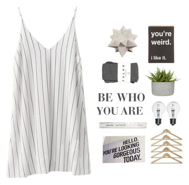 """BE WHO YOU ARE!"" by switchkid ❤ liked on Polyvore featuring Moe's and Falke"
