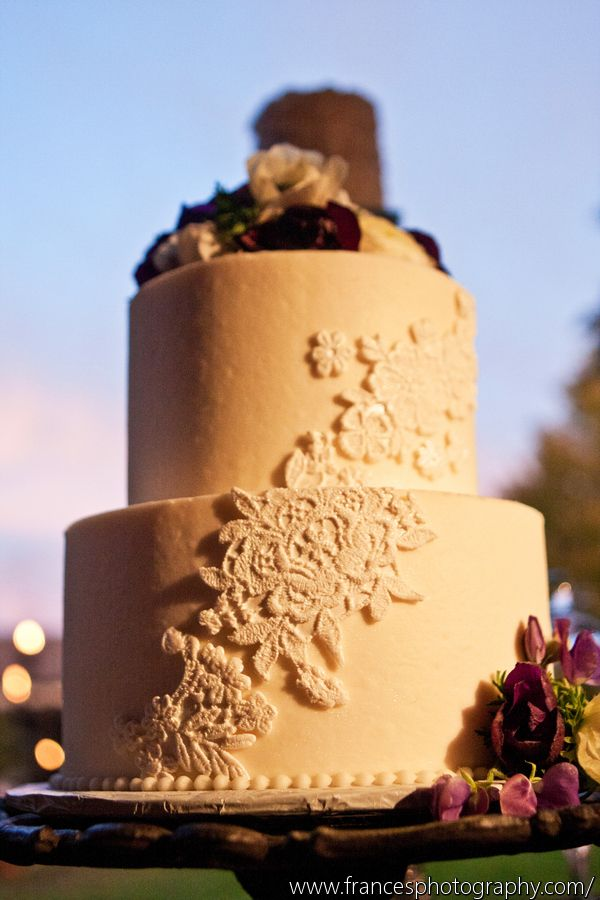 "Pearls and Lace"" wedding cake- Intricate Icings cake design"