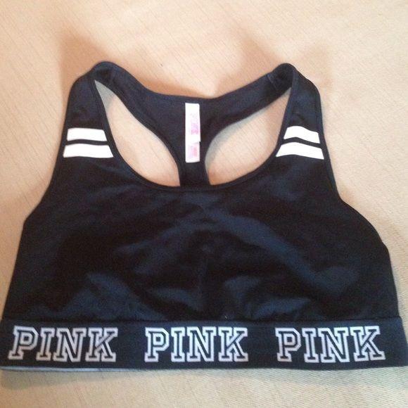 Black Victoria's Secret pink sports bra Black Victoria's Secret pink sports bra PINK Victoria's Secret Intimates & Sleepwear Bras