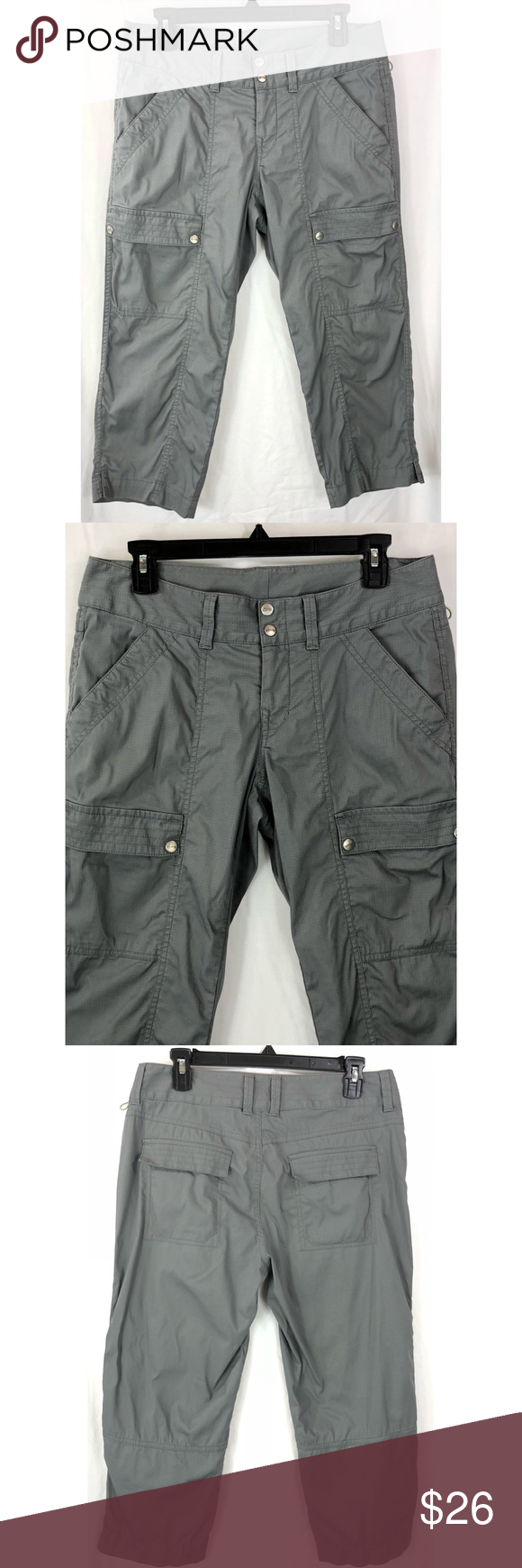 Women's Clothing Clothing, Shoes & Accessories Koppen Womens Gray Cuffed Nylon Shorts Size 8