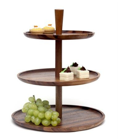 Pin By Marsha On Wedding Ideas Tiered Server Acacia Wood 3 Tier Serving Tray