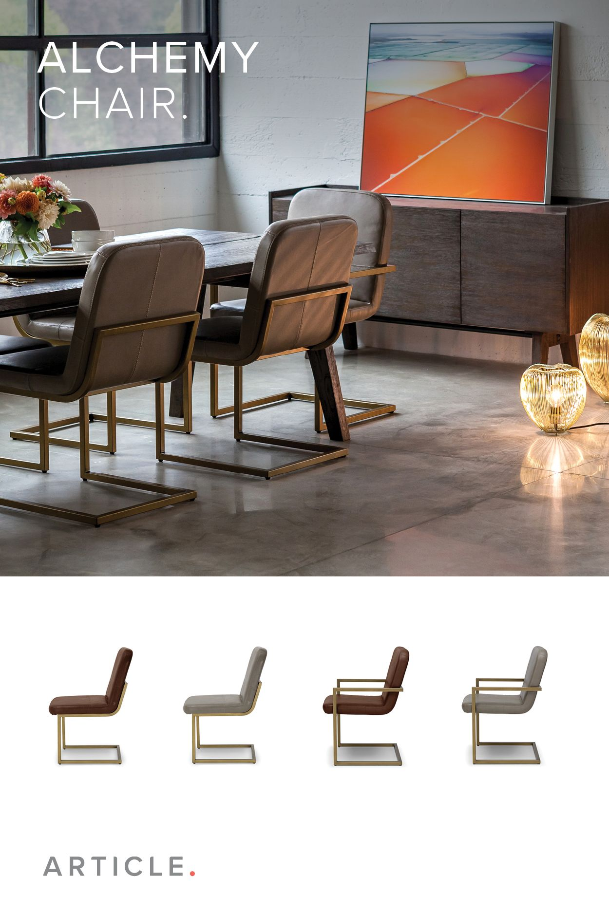 The Alchemy Chair S Brushed Gold Metal Frame And Comfortably