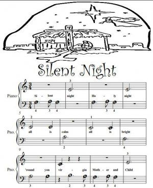 Piano Sheet Music For Beginners Silent Night Beginner Tots Piano