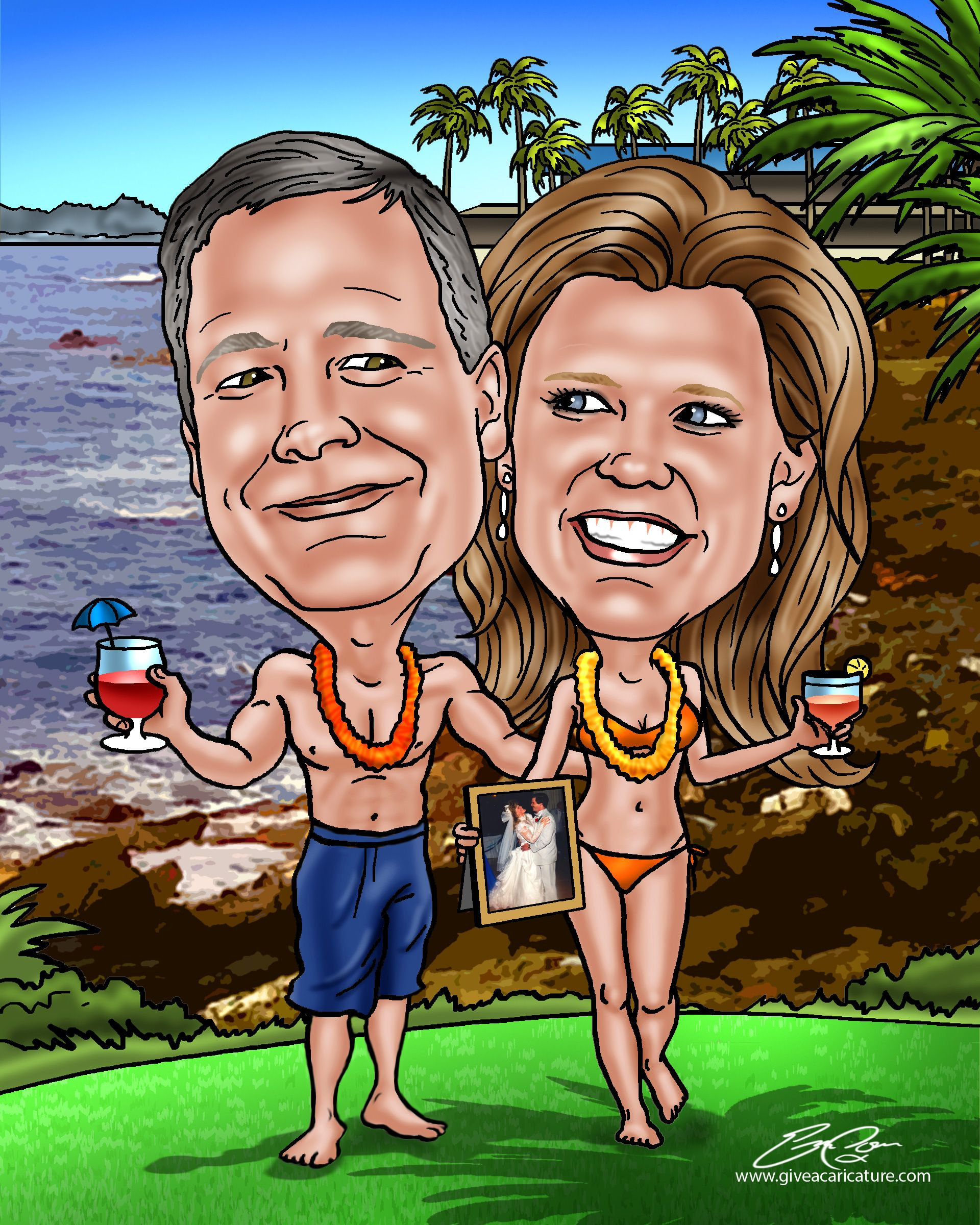 Gifts 25th Wedding Anniversary Couple: A Custom Caricature In 2019