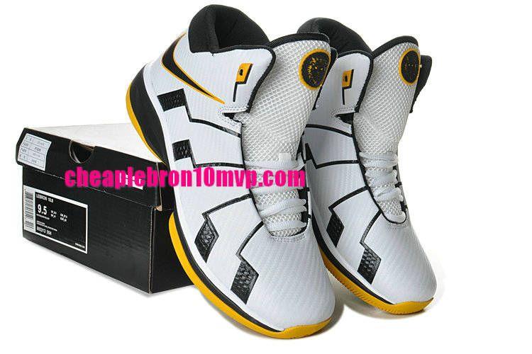 buy online 3a7b2 d265f Lebron 10.8 White Black Yellow Green 865313 004 Cheap Lebron James Shoes