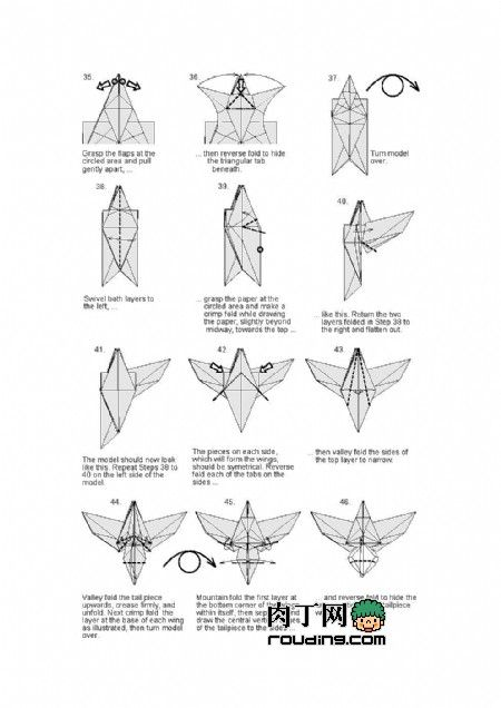 Origami Eagle Instructions Diagram Marketing System 5 | Pinterest And