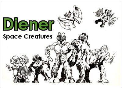 「Diener Space Creatures Monsters Aliens」の画像検索結果