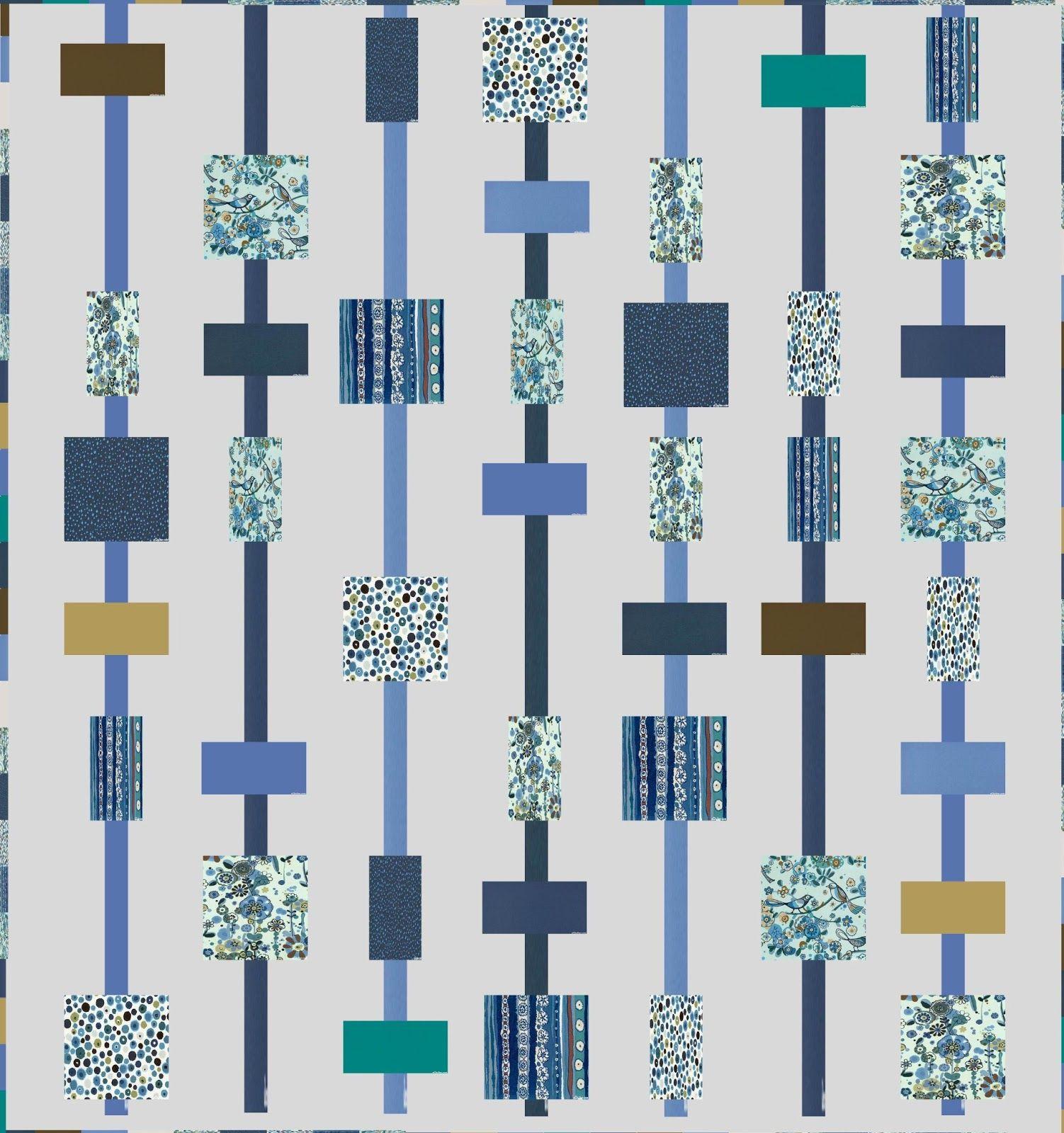Stitching Times: Larkspur Quilt Idea