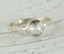 Rose Cut Diamond Engagement Ring - Etsy Jewelry