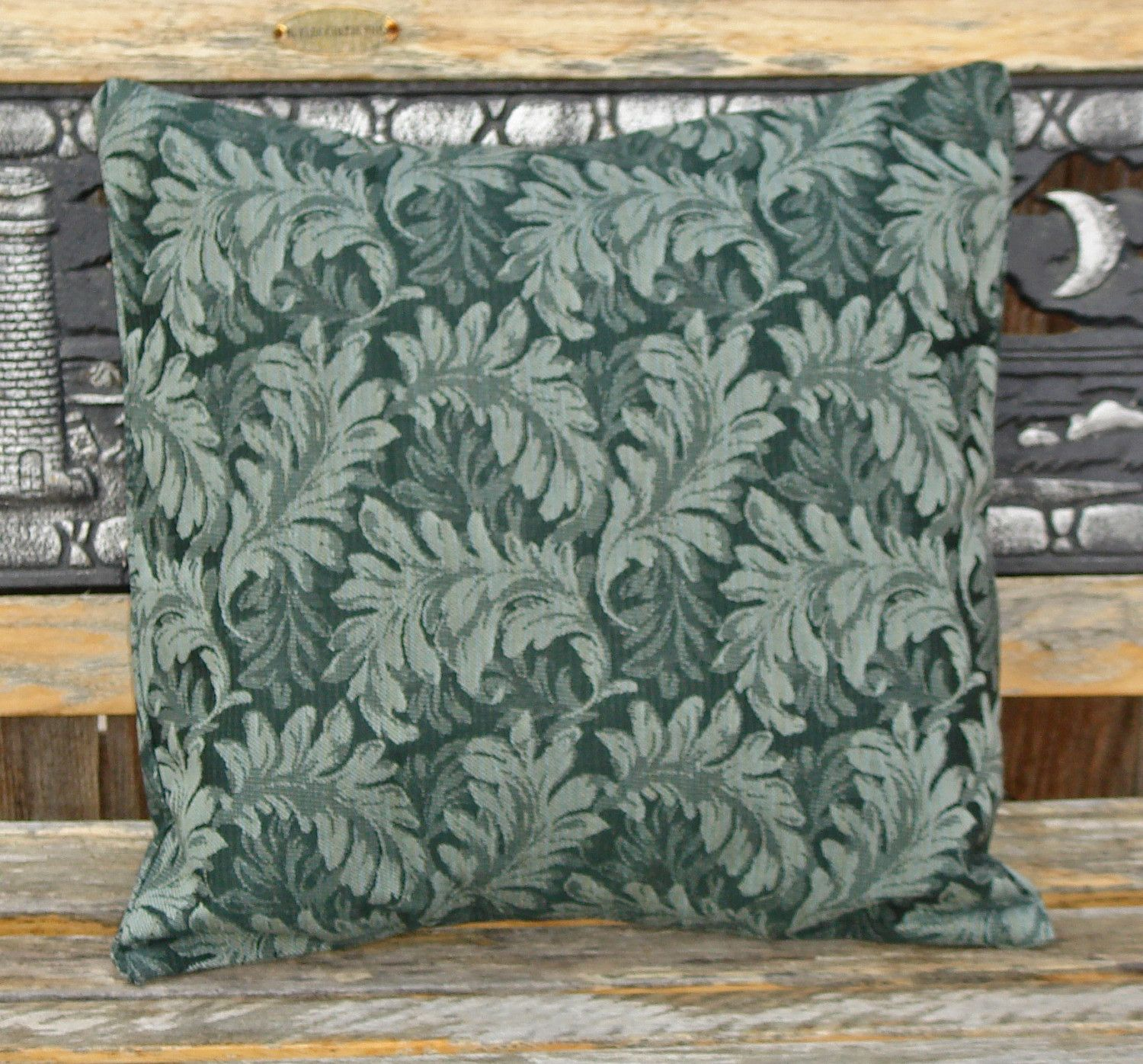 Throw pillows cover x sewn with large delicate leaf print in