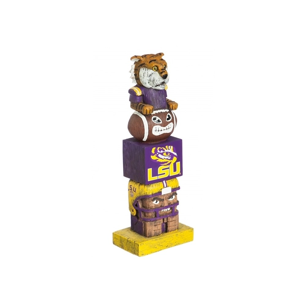 NCAA Team Sports America Tiki Totem, Purple/Gold Tiki