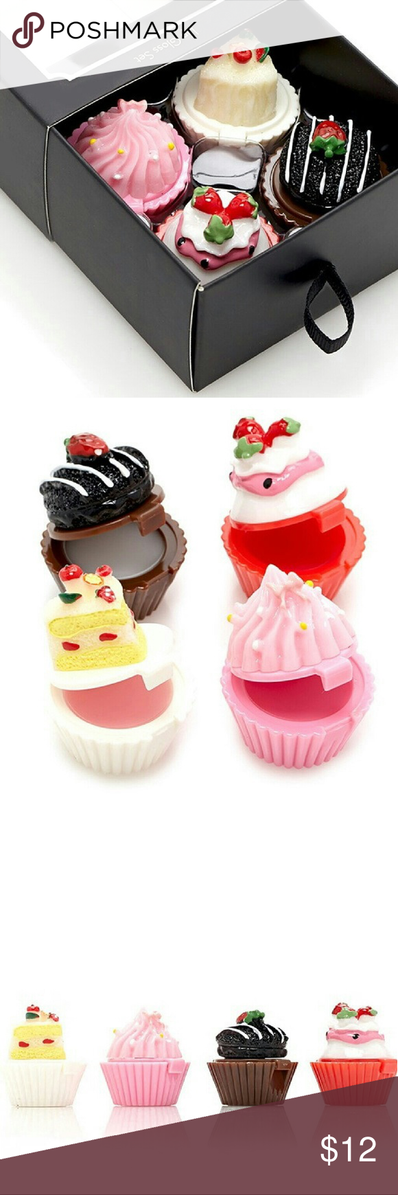 Adorable Cupcake Lip Gloss Set New with tags! This is an