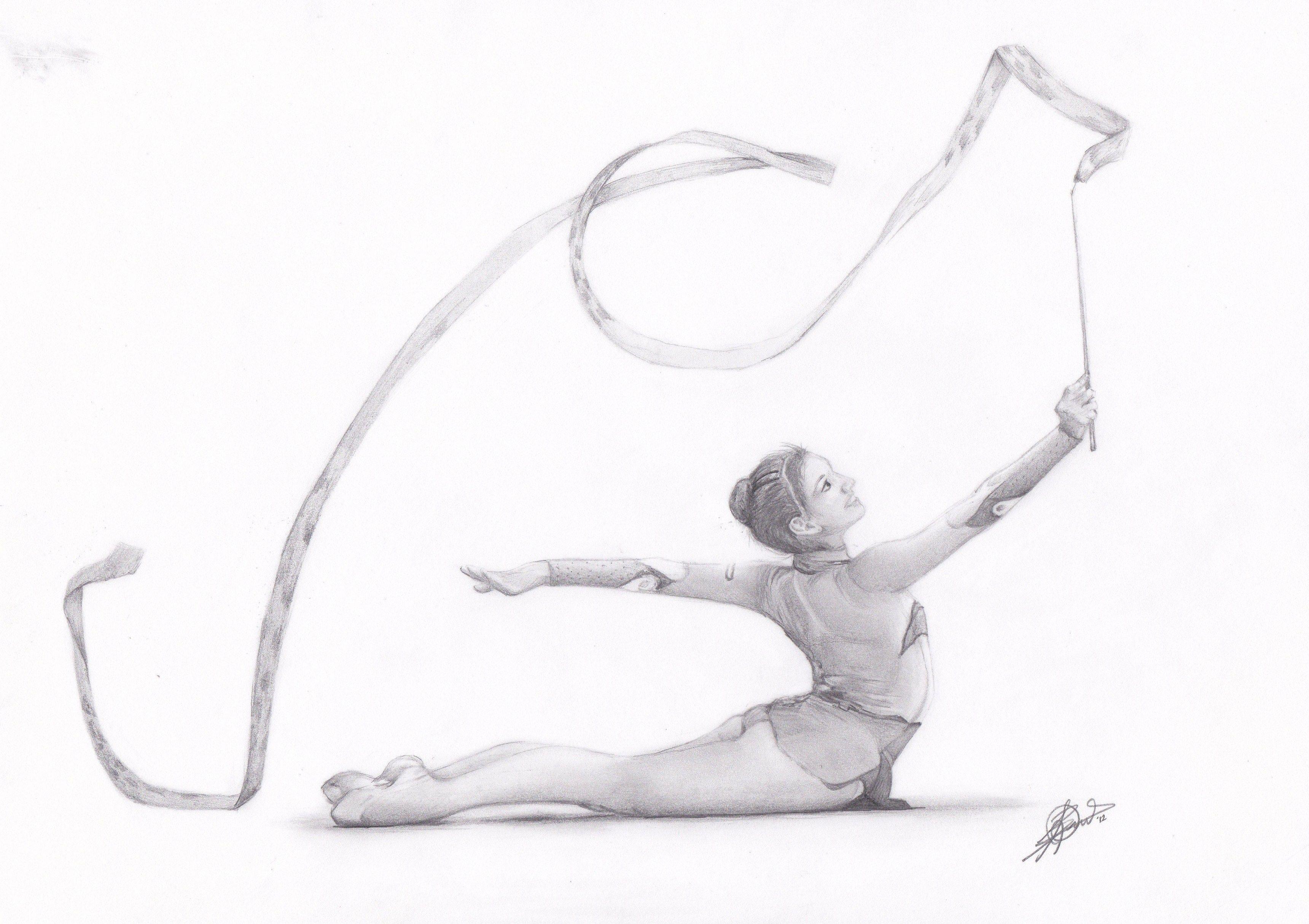 рисунок по гимнастике легко