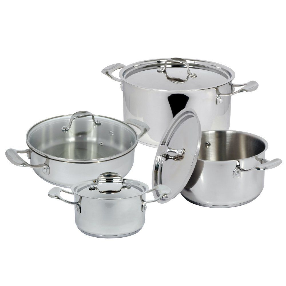Cookware gt see more select by calphalon ceramic nonstick 8 inch an - Better Chef Bc8000 8 Piece Stainless Steel Cookware Set Learn More By Visiting
