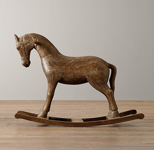 Vintage Wood Carousel Horse From Restoration Hardware 269