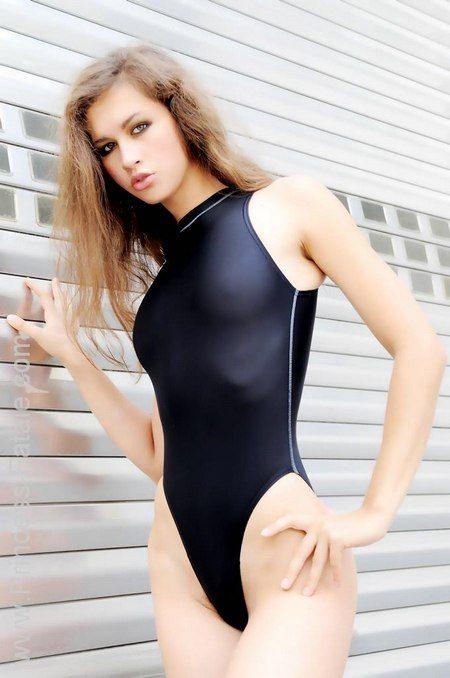 Princess Fatale Nikita Black Lycra One Piece Swimsuit