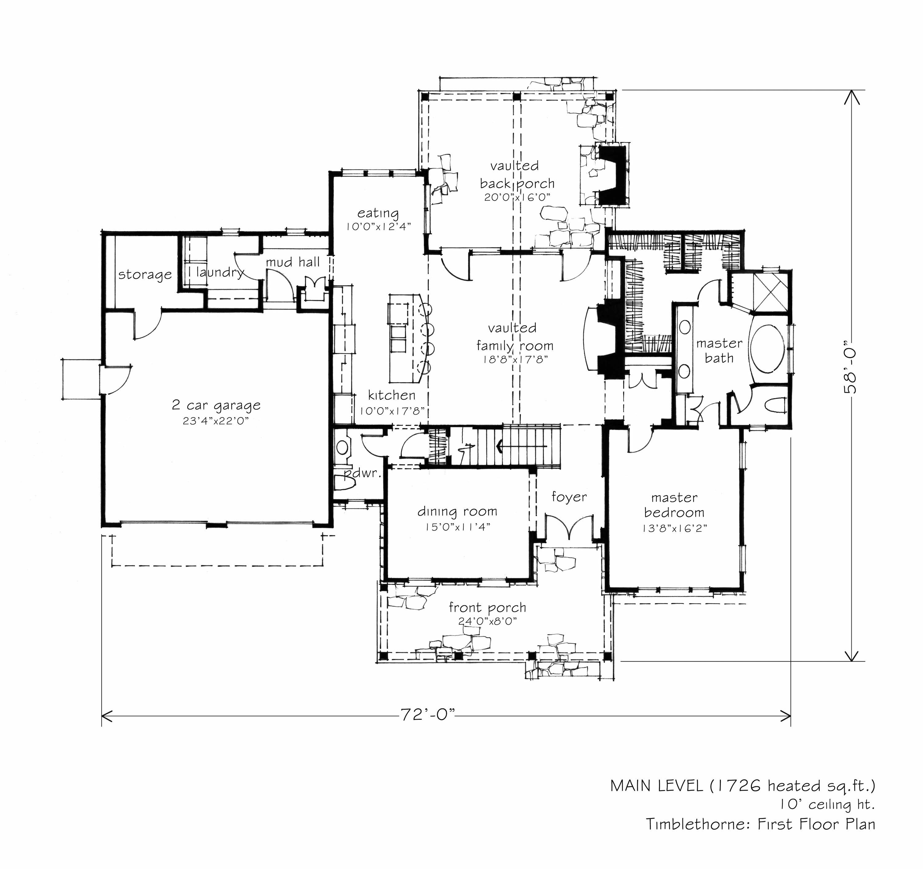 Timblethorne L Mitchell Ginn Associates Southern Living House Plans Floor Plans House Plans