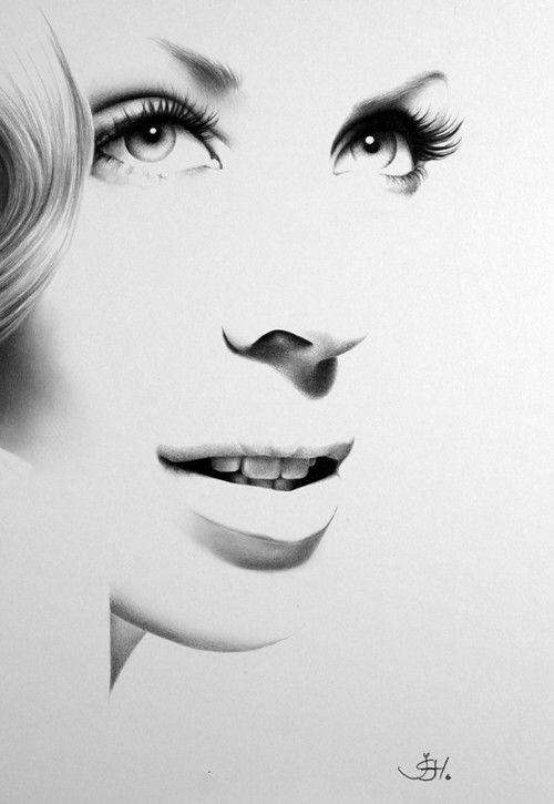 Kylie minogue minimalisme fine art crayon dessin portrait for Minimalisme art