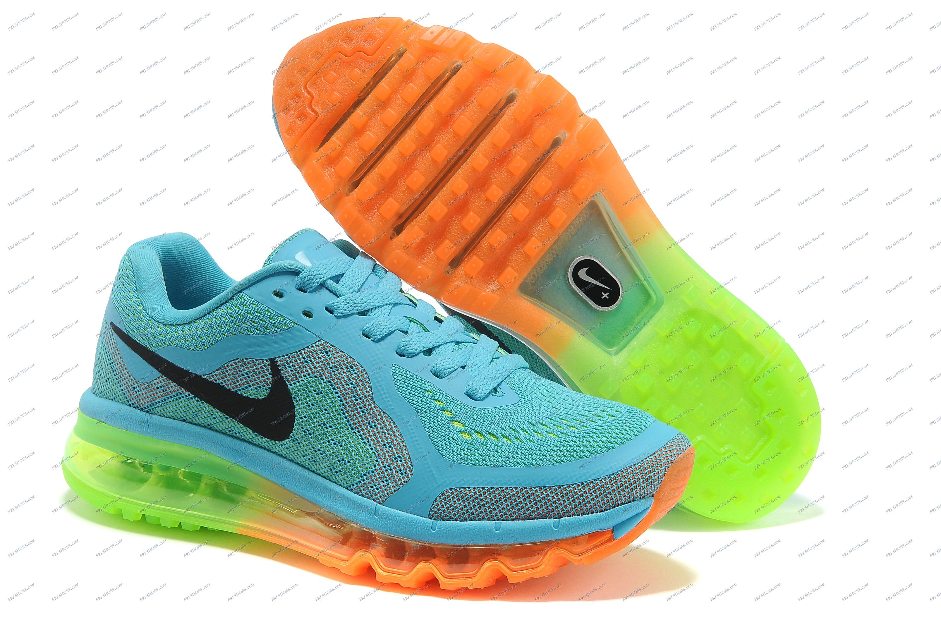 buy online 26ee4 e8da7 Nike Air Max 2014 Sky Blue Orange Women s Athletics Running shoes nike  online shop