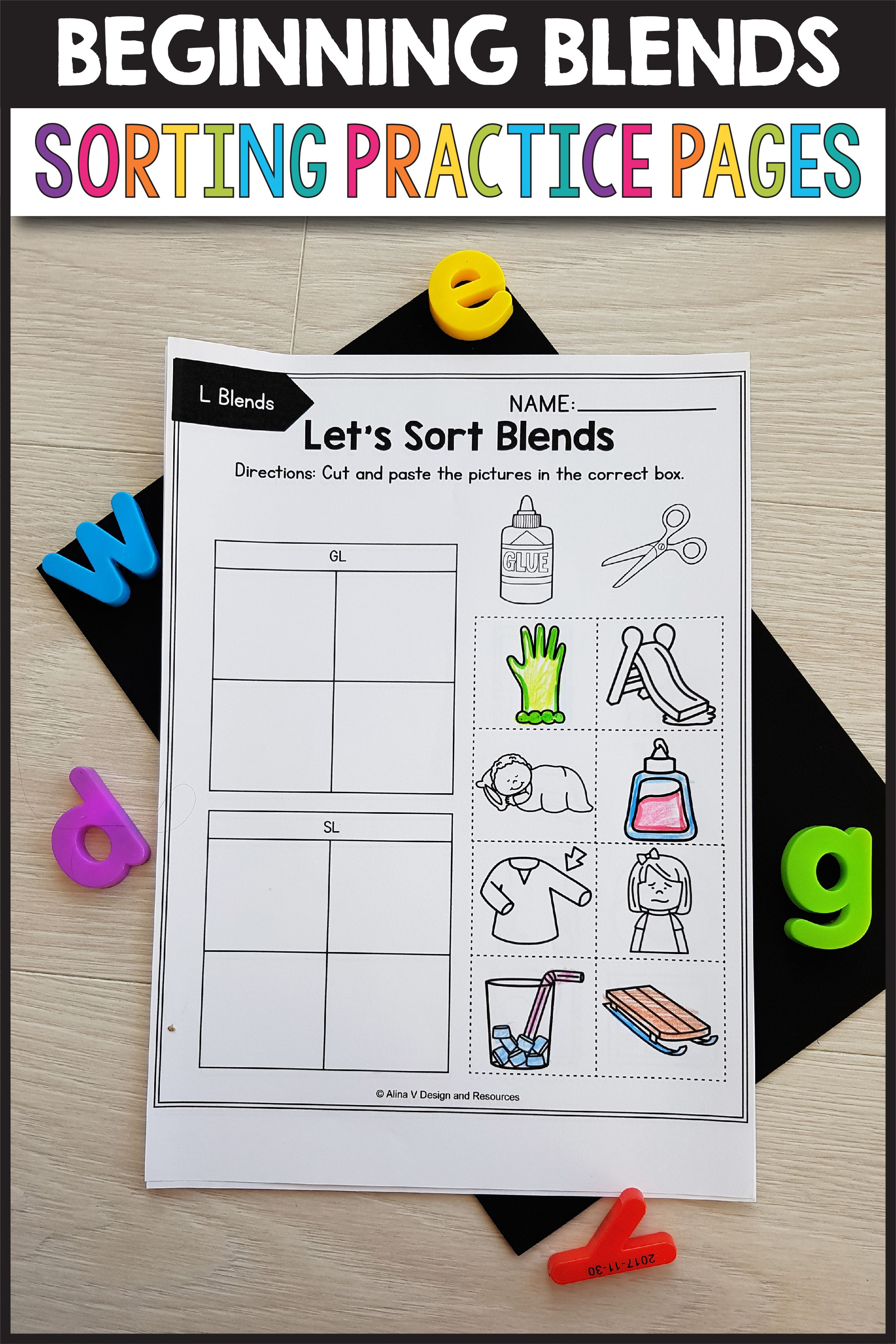 L Blends Worksheets S Blends Activities