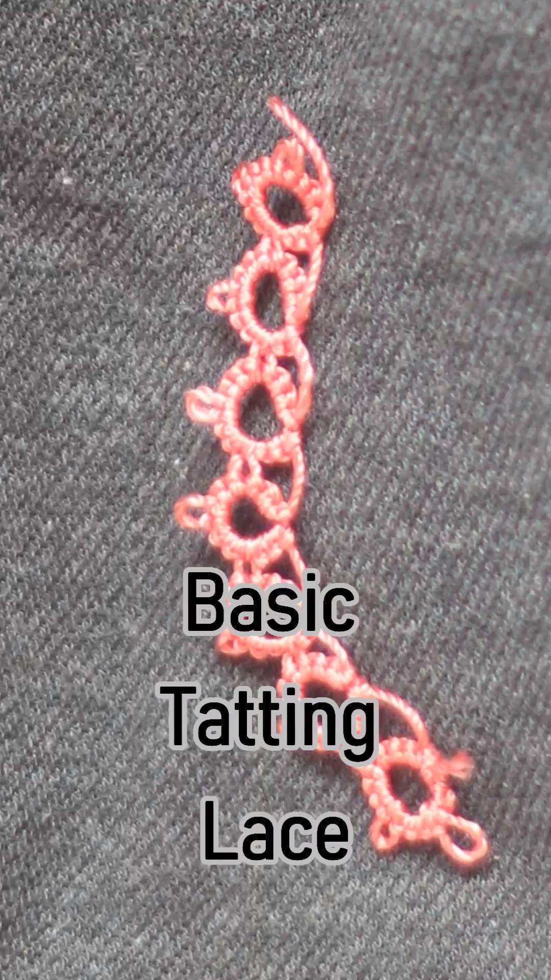 Learn basic #tatting lace #tatting