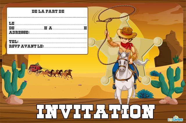 Carte Invitation Anniversaire Gratuite Cowboy A Imprimer Une Invitation Avec Anniversaire Cow Boy Carte Invitation Anniversaire Gratuite Anniversaire Western