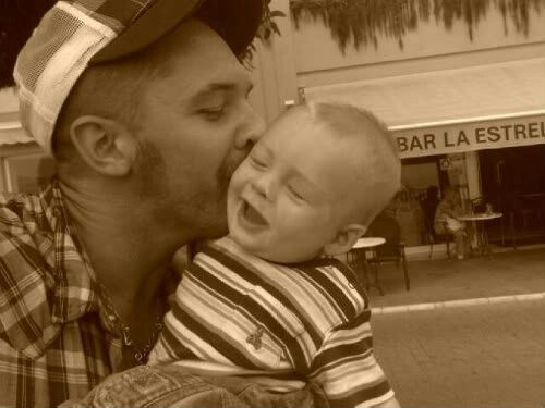 Tom Hardy and son, Louis.