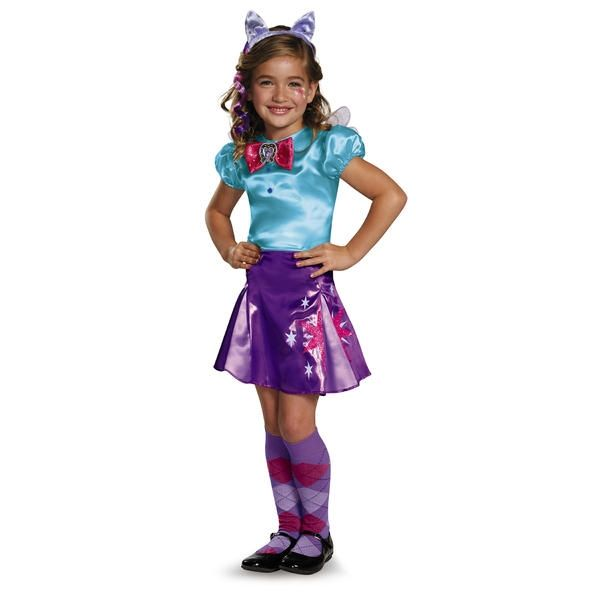 Girls Deluxe Twilight Sparkle My Little Pony Book Day Fancy Dress Costume Outfit