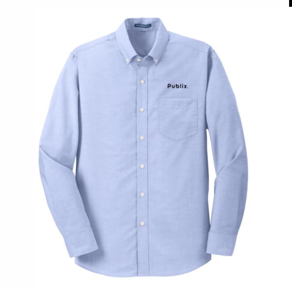 Men's Port Authority TALL SuperPro Oxford Blue Shirt
