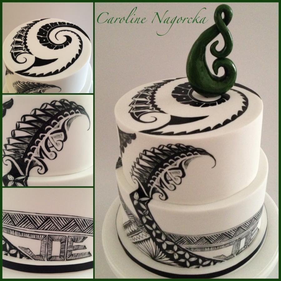 New Zealand/Samoan cake Polynesian wedding, Island cake