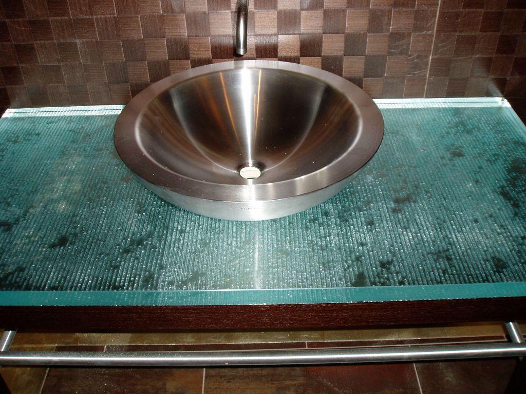 Fusion Glass bathroom vanity top - Brooks Custom brookscustom.com ...