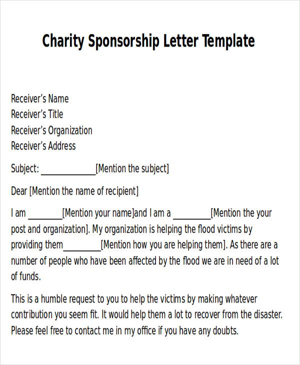 pics photos charity support letters donation letter free sample - proposal template for sponsorship