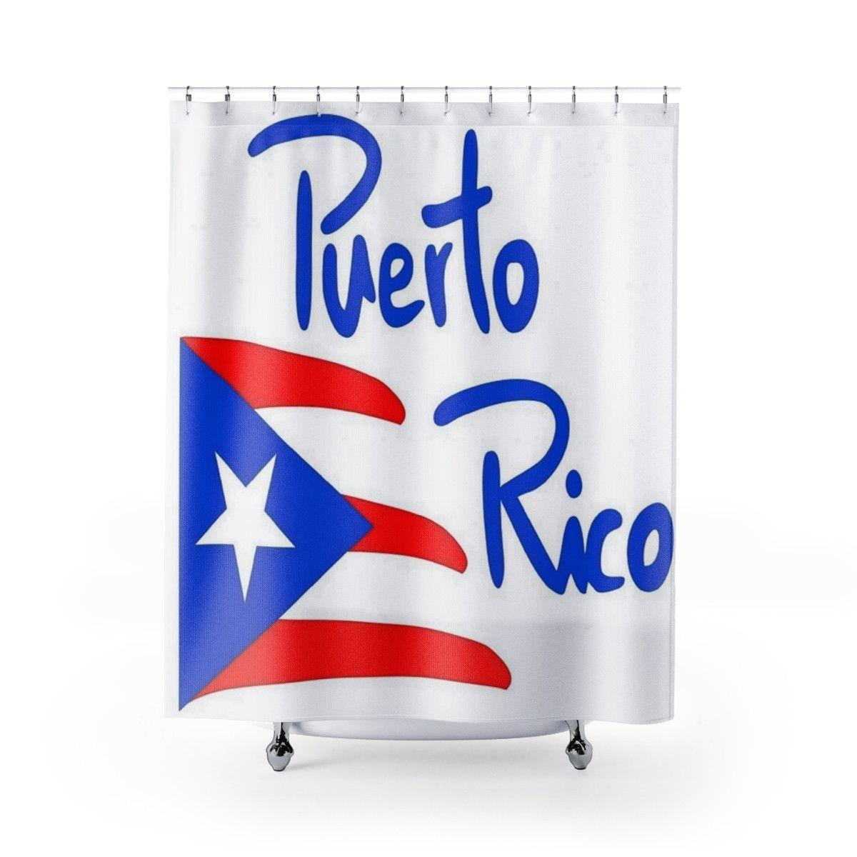 Puerto Rico Shower Curtains Puerto Rico Utuado Sticker Sign