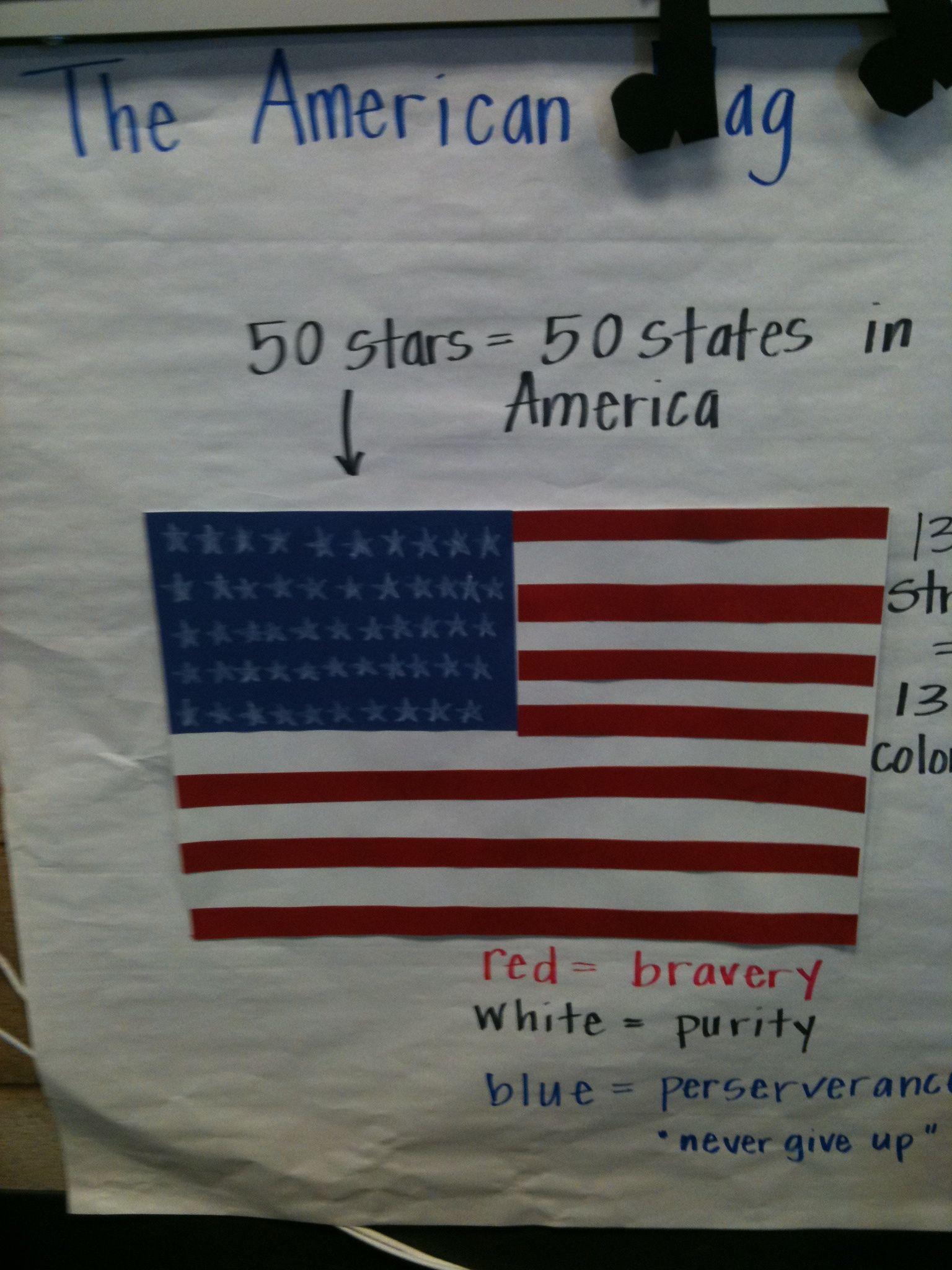 National Symbols Unit American Flag Pictorial Input Chart School