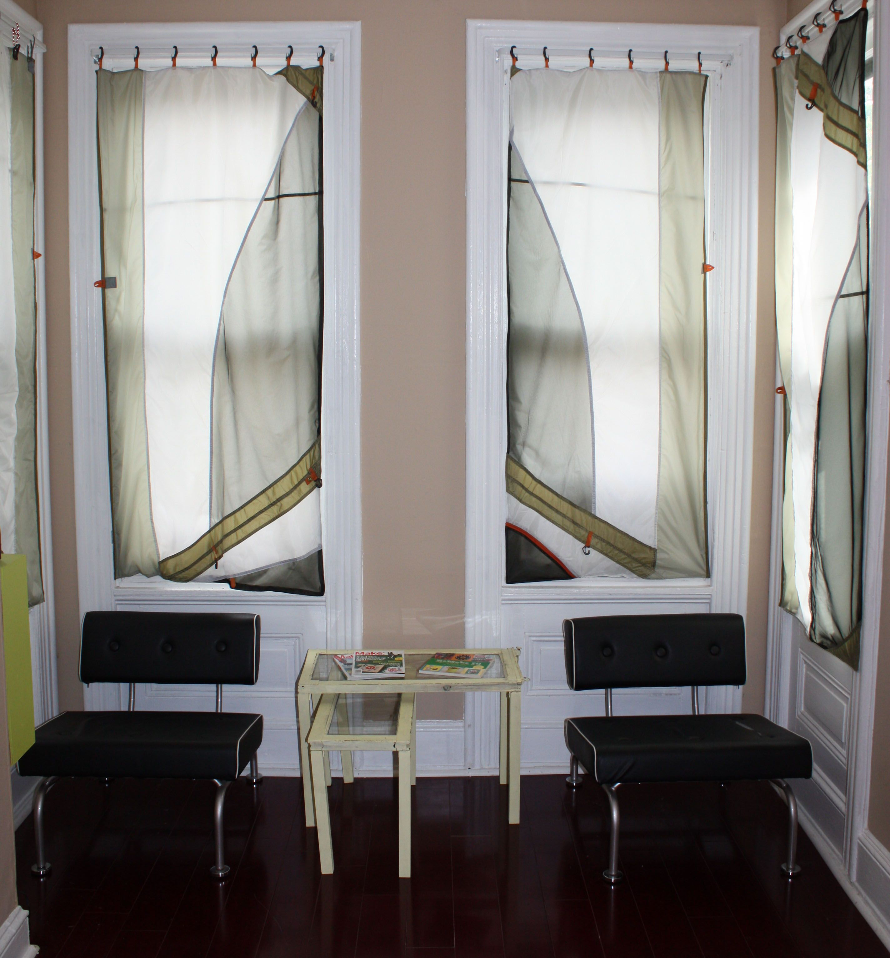 upcycled curtain from old tents | Window treatments, Tent ...