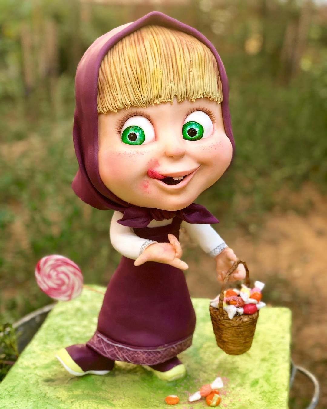 """Tuba Geckil - Masha Cake (Animated character from Russian animated television series """"Masha and the Bear"""")"""