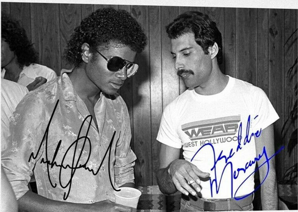 Celebritys Freddie Mercury Queen Michael Jackson Autograph Signed Photo With Coa Music 1840 Freddie Mercury Michael Jackson Michael Jackson Autograph Michael Jackson