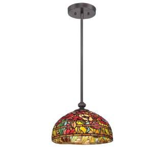 Check Out The Quoizel TF1604SIB Tiffany 1 Light Pendant In Imperial Bronze
