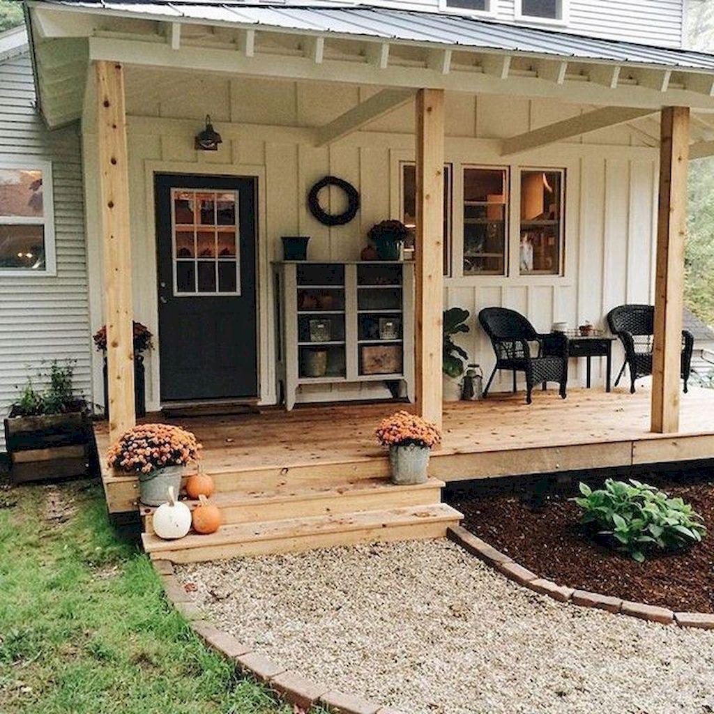 50 Stunning Modern Farmhouse Front Door Entrance Ideas 99decor Front Porch Makeover Porch Makeover Front Porch Design