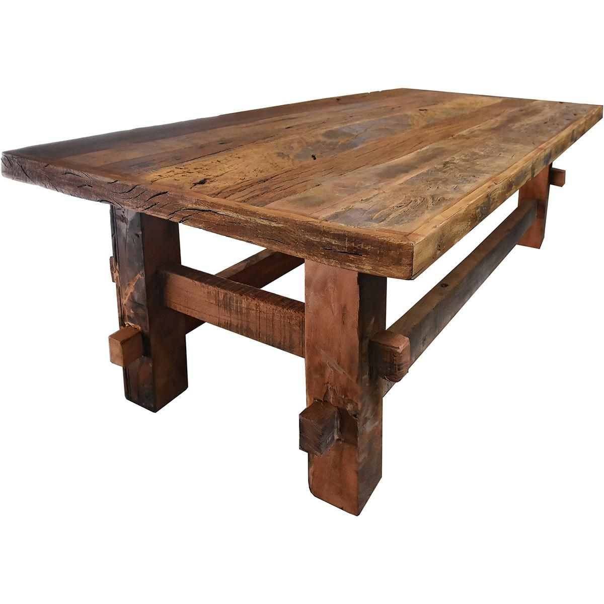 Country Reclaimed Wood Coffee Table For Sale Image 3 Of 3 Reclaimed Wood Coffee Table Coffee Table Wood Coffee Table