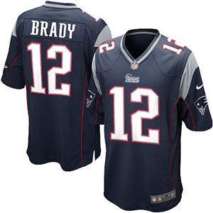 Nike New England Patriots #12 Tom Brady Game blue Jersey