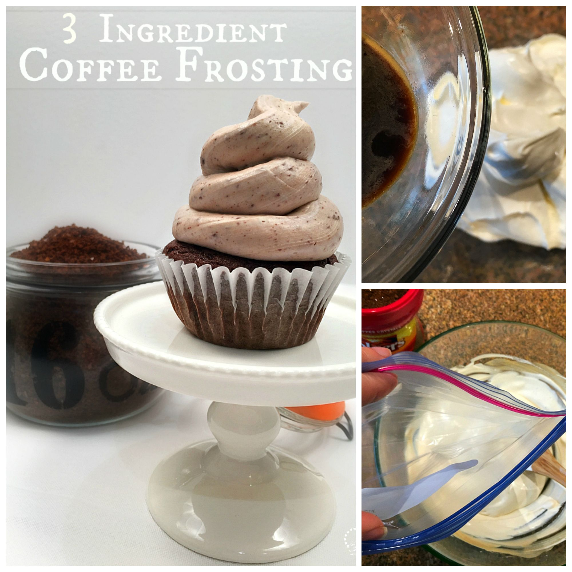 Easy coffee frosting recipe.