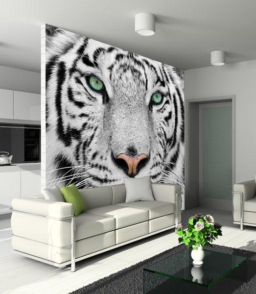 White Tiger Wall Murals White Tiger Wall Murals Mural White tiger living room decor
