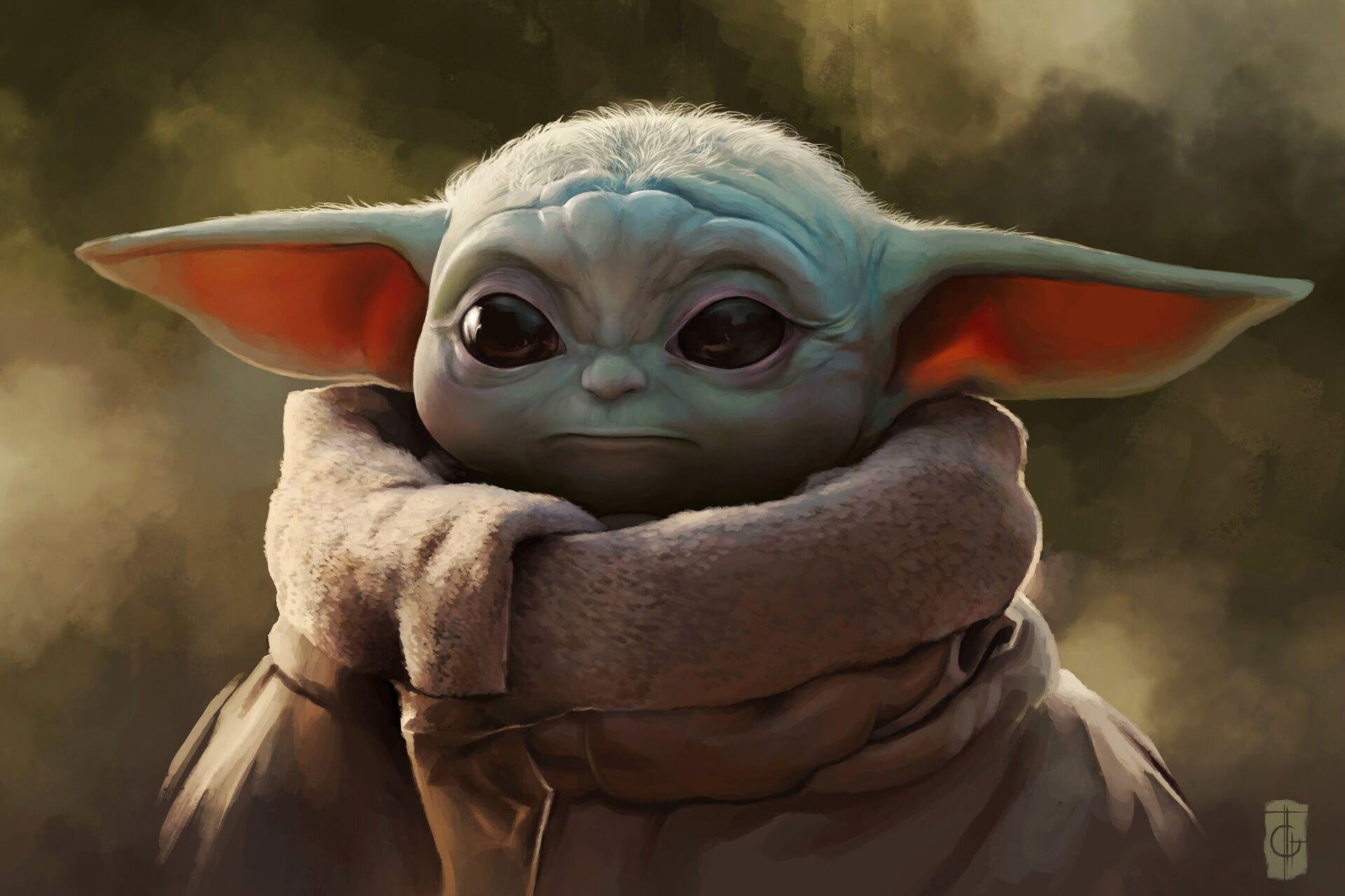 Star Wars Artwork The Mandalorian Baby Yoda 1080p Wallpaper Hdwallpaper Desktop In 2020 Star Wars Pictures Star Wars Images Yoda Wallpaper